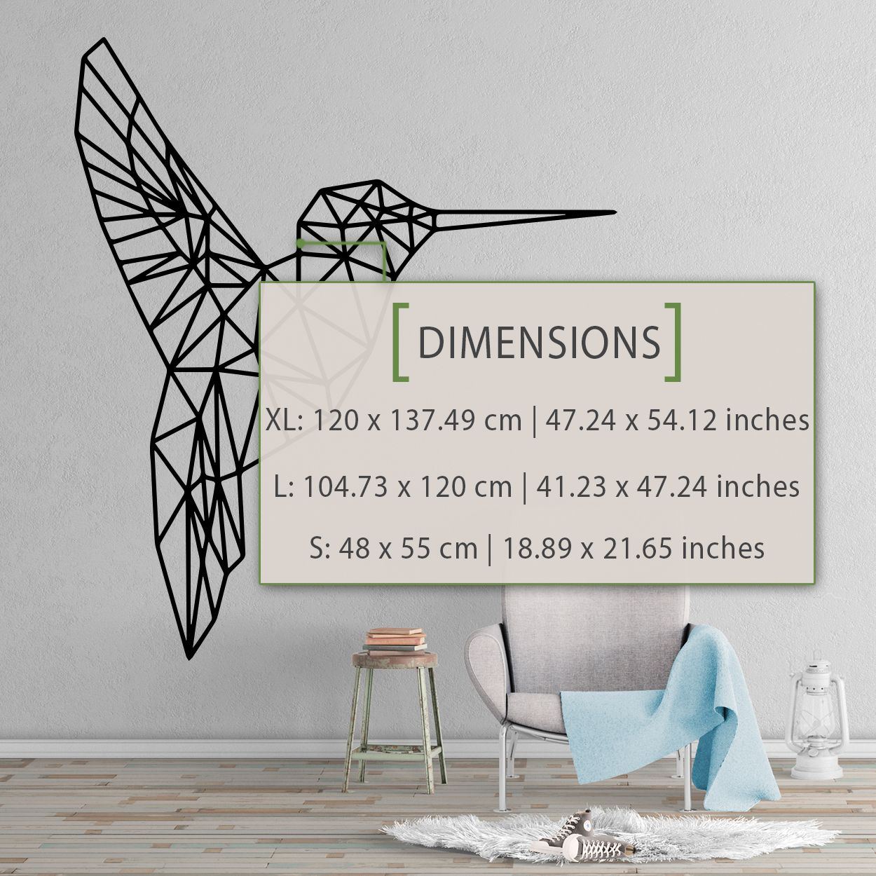 Hummingbird Vinyl Wall Art Decals//Stickers Various Colours /& Sizes