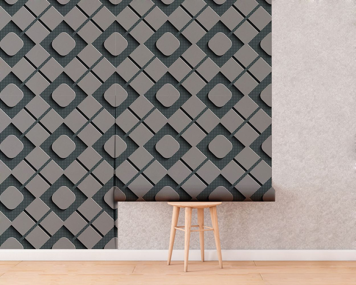 Squares 3d Effect Wallpaper